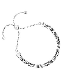 Simply Silver Flat Chain Toggle Bracelet