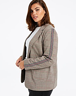 Sport Stripe Check Blazer