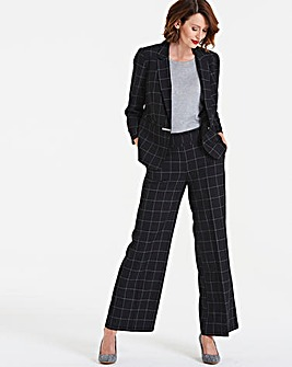 Window Pane Wide Leg Check Trouser