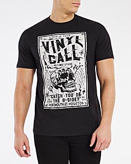 Black Vinyl Call Graphic Tee