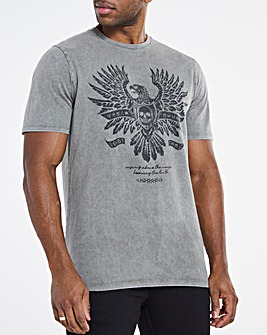 Khaki Eagle Graphic Tee Long