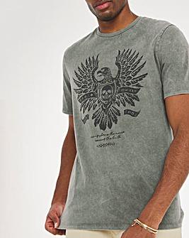 Khaki Eagle Graphic Tee Long