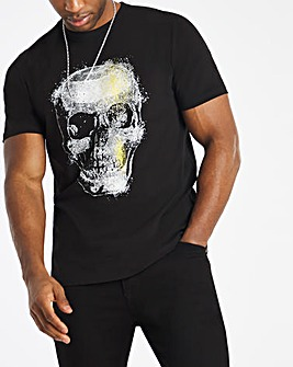 Black Skull Graphic Tee Long