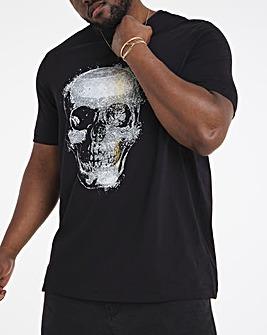 Black Skull Graphic Tee Long