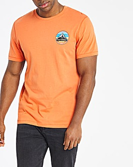Orange Mountains Graphic Tee Long