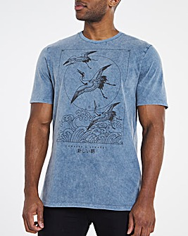 Blue Birds Graphic Tee Long