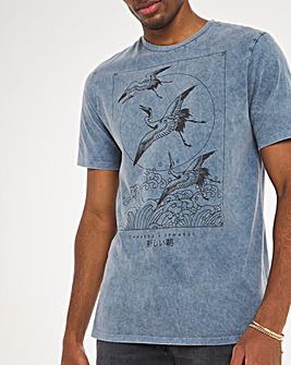 Blue Birds Graphic Tee Long