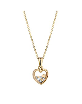 Simply Silver Charmed Heart Pendant