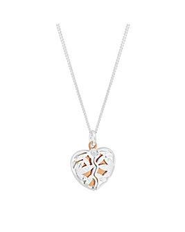 Simply Silver Broken Heart Pendant