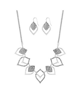 Mood Silver Plated Cut Out Pave Set