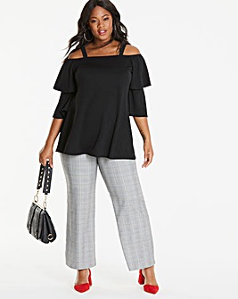 Maternity Checked Wide Leg Trouser