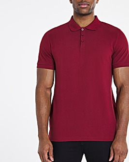 Wine Pique Polo Long