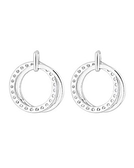 Simply Silver Double Open Stud Earrings