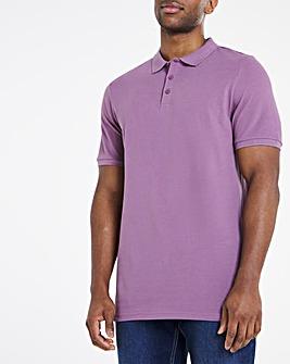 Purple Pique Polo Long