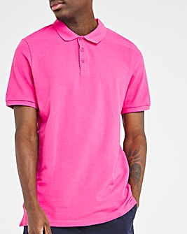 Hot Pink Pique Polo Long