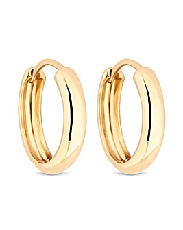 Simply Silver Yellow Gold Hoop Earrings