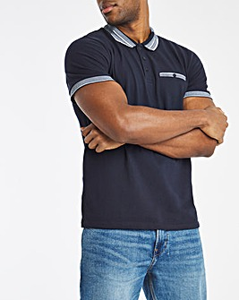 Navy Jacquard Polo Regular