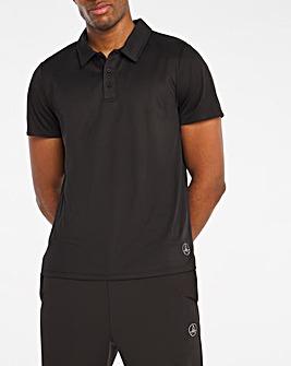 Jacamo Active Black Golf Polo Shirt