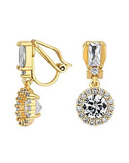 Jon Richard Baguette Stone Clip Earring