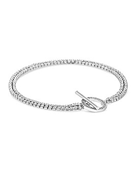 Jon Richard T Bar Diamante Bracelet