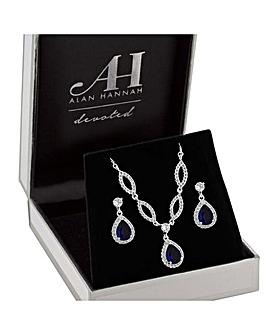 Alan Hannah Sapphire Pendant Earring Set