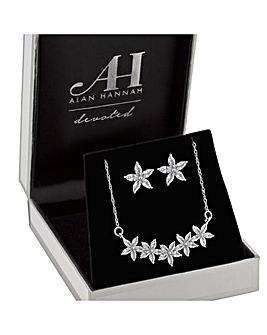 Alan Hannah Floral Neckace + Earring Set