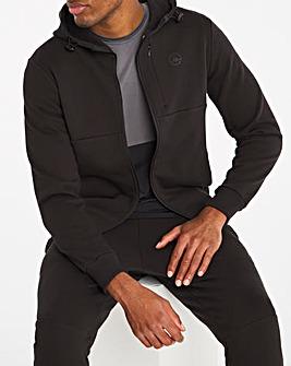 Jacamo Active Black Zip Through Hoodie