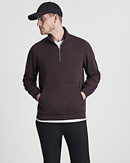 Jacamo 1/4 Zip Neck Sweatshirt Long