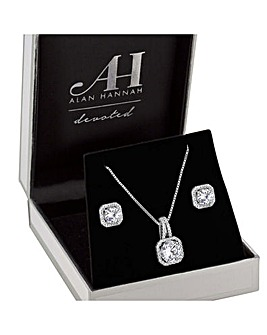 Alan Hannah Drop Pendant And Earring Set