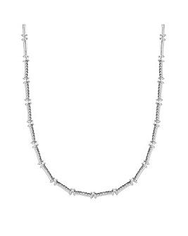 Jon Richard Pave Kisses Allway Necklace