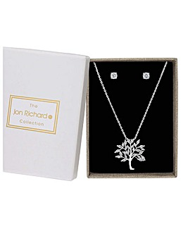 Jon Richard Tree Pendant With Earrings