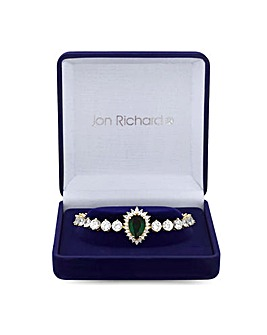 Jon Richard Emerald Tennis Wristwear