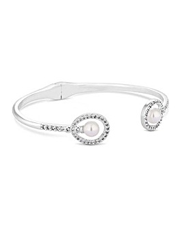 Jon Richard Pearl Double Oval Bangle