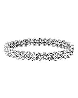 Jon Richard Crystal X Stretch Bracelet