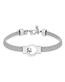 Jon Richard Mesh Crystal Stone Bracelet