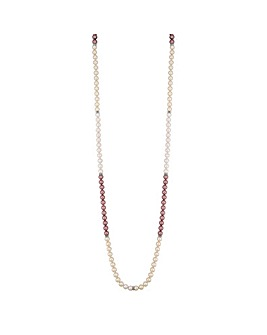 Jon Richard Pink Ombre Pearl Necklace