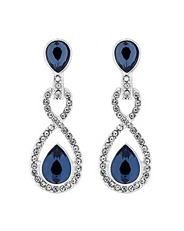 Jon Richard Crystal Pave Montana Earring
