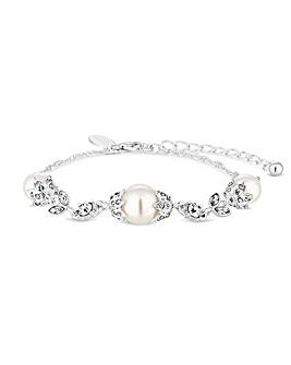 Alan Hannah Crystal Acorn Pearl Bracelet