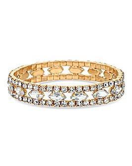 Jon Richard Stretch Diamante Bracelet