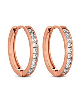 Jon Richard Rose Medium Hoop Earring