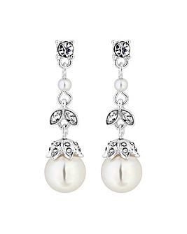Alan Hannah Crystal Acorn Pearl Earring