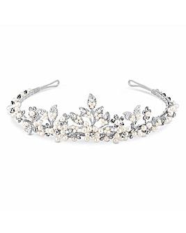 Jon Richard Gracie Pearl Floral Tiara