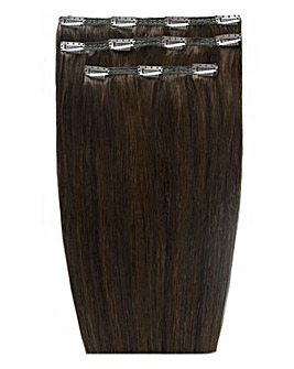 Beauty Works Deluxe Clip in 18inch Raven Hair Extensions