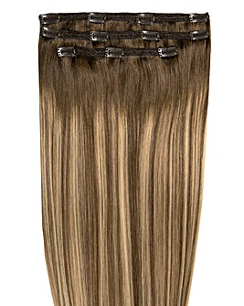 Beauty Works Deluxe Clip in 18inch Mocha Melt Hair Extensions