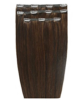 Beauty Works Deluxe Clip in 18inch Chocolate Hair Extensions