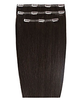 Beauty Works Deluxe Clip in 18inch Ebony Hair Extensions