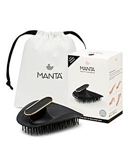 Manta Original Ultra Gentle Hairbrush Black