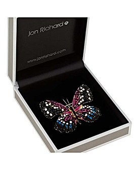 Jon Richard Crystal Pave Butterly Brooch