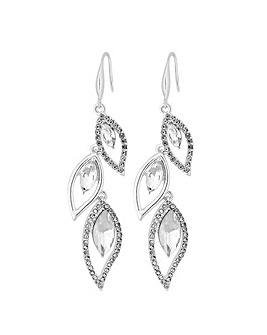 Jon Richard Tear Drop Pave Drop Earring