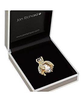 Jon Richard Crystal Bug Brooch